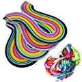 Bantoye 26 Colors Paper Quilling Strips 1040 Art Paper Strips Colorful DIY Paper Quilling Strips Set of 4 Sizes