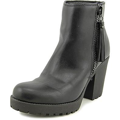 95d312eab063 Madden Girl Womens Como Platform Dress Ankle Booties Black 11 M