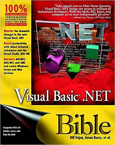 Read e-book online Visual Basic  NET Bible PDF | Vivek Chetana Books