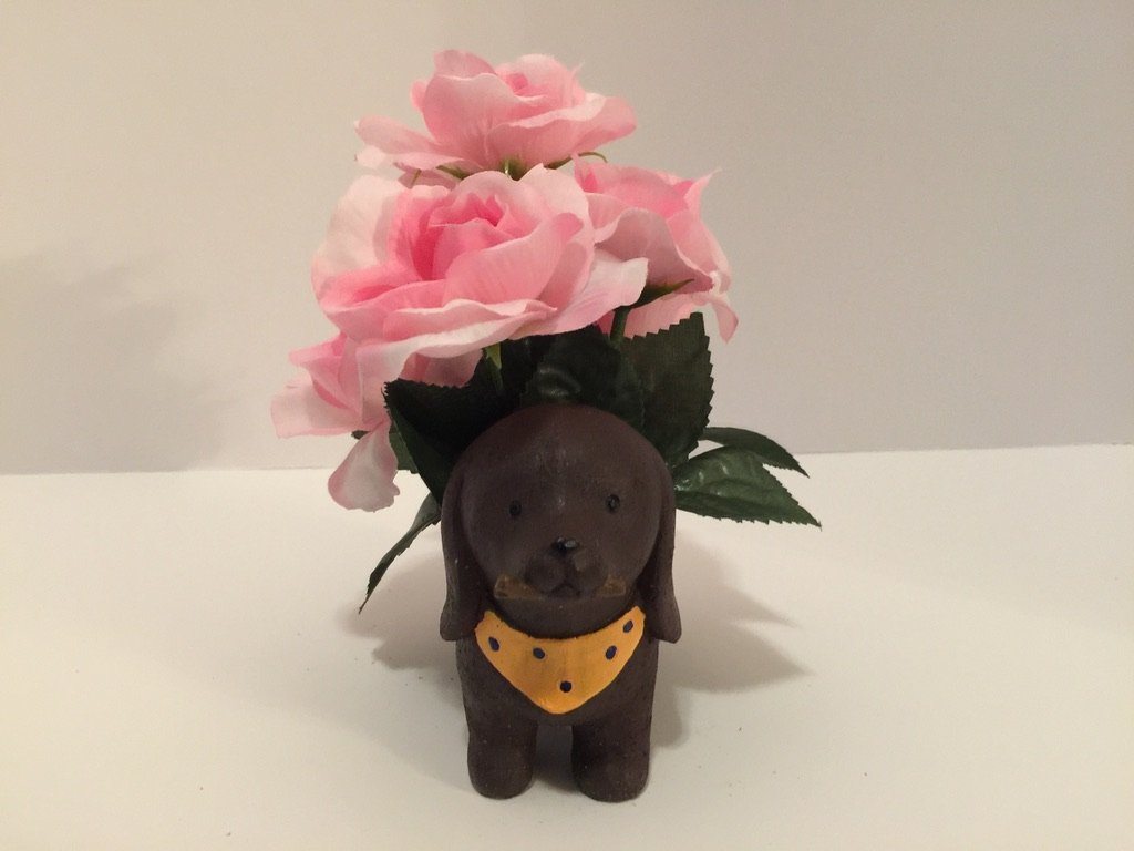 ANIMAL FUN - STANDING DACHSHUND - PINK ROSES by Peters Partners Design