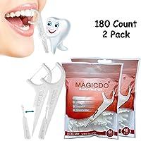 eTTgear 180 púas dentales, multifunción, incluye hilo dental