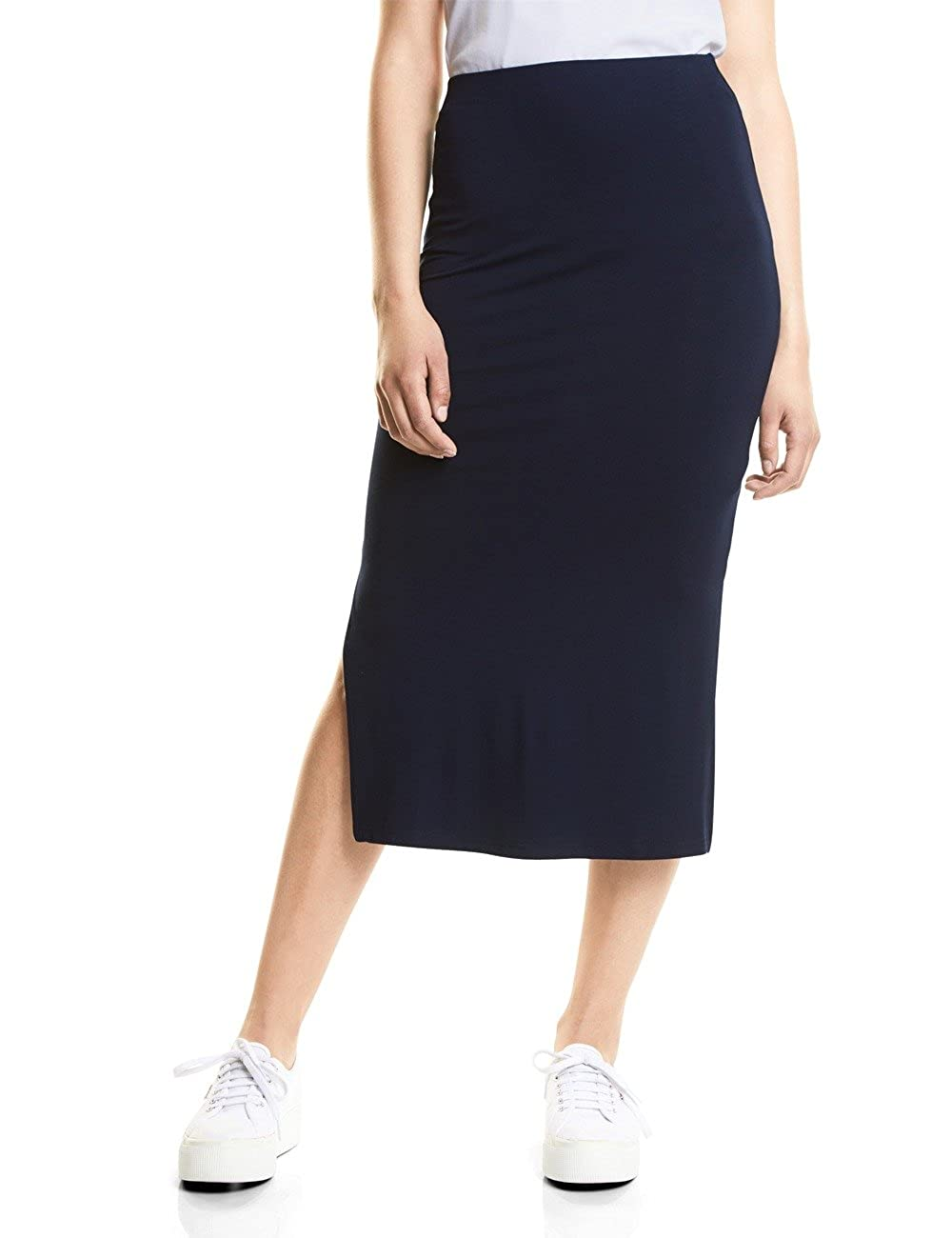 Street One 360240 Pepica, Falda para Mujer, Blau (Deep Blue 11238 ...