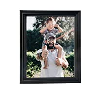 NuvoLe Home 8x10 Picture Frame, Made of High Definition Glass for Table Top Display and Wall mounting Photo Frame, Black