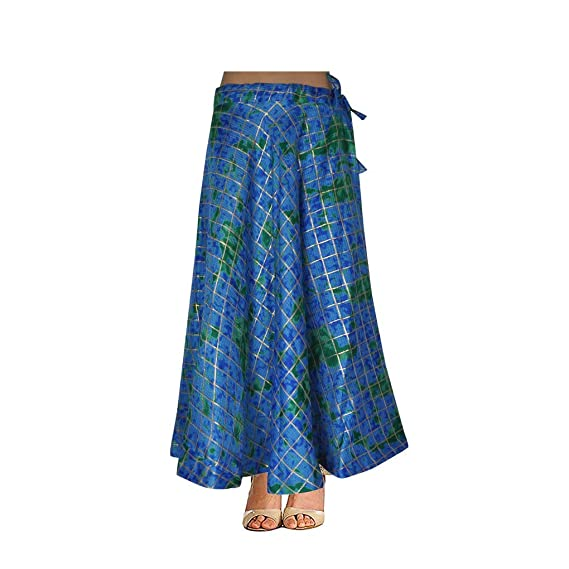3a0014976 Lalhaveli Women Fashion Silk Brocade Fabric Ethnic Skirt Lehenga Skirts  Gift 40 W x 40 L Blue: Amazon.in: Clothing & Accessories
