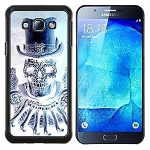 """Be-Star Único Patrón Plástico Duro Fundas Cover Cubre Hard Case Cover Para Samsung Galaxy A8 / SM-A800 ( Cráneo del diamante del sombrero de copa de Bling de la Muerte"""" )"""