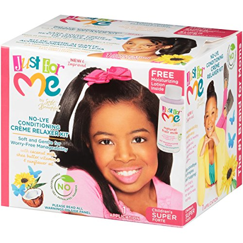 Just for Me No-Lye Conditioning Creme Relaxer Kit-Children's Super (1 APPLICATION)