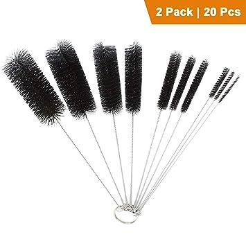 xubox Tubo Cepillo Set, 10 cepillos de limpieza de nailon juego de brochas de 8