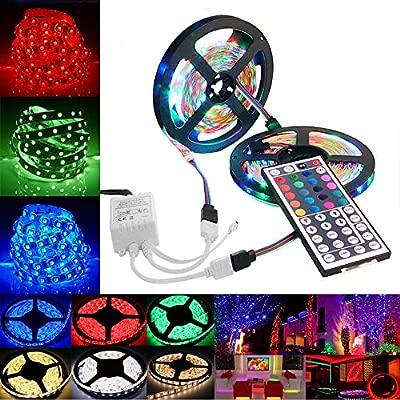 YA-Uzeun 3528 SMD RGB 600 Tira de Luces LED Cinta de Cadena ...