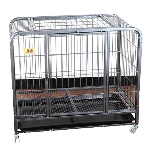 XCLLL Cerca del Animal doméstico Jaula de Perro Perros medianos y ...