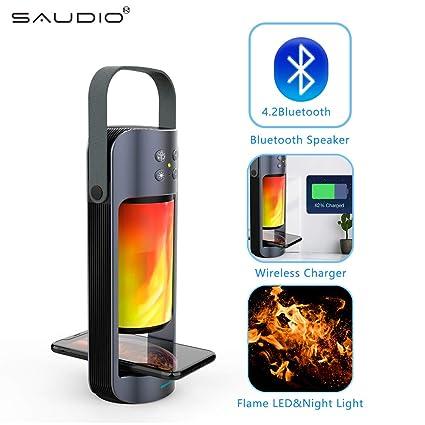 Amazon.com: SAUDIO - Altavoz portátil con Bluetooth y ...