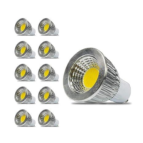GU10 3W COB Spotlight Bombillas LED de ahorro de energía de la lámpara (Hermoso blanco