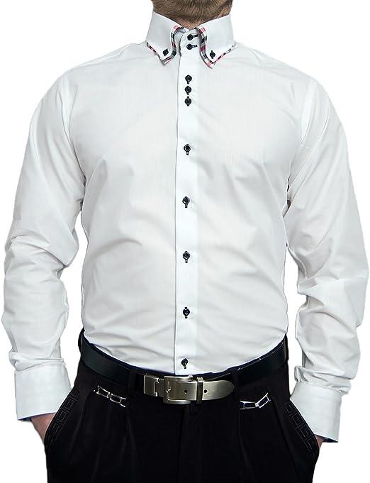 Herren Hemd Slim Fit Langarm Freizeithemd Casual Knitterfrei Tailliert Stretch