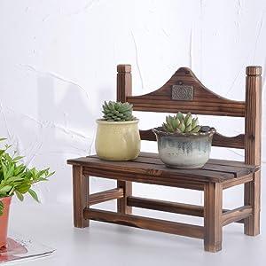 ZXL Plant Flower Display Stand Solid Wood Flower Shelf Grid Balcony Garden Plant Shelf Wooden Floor Shelf Indoor Multilayer Outdoor Indoor (Color : B)