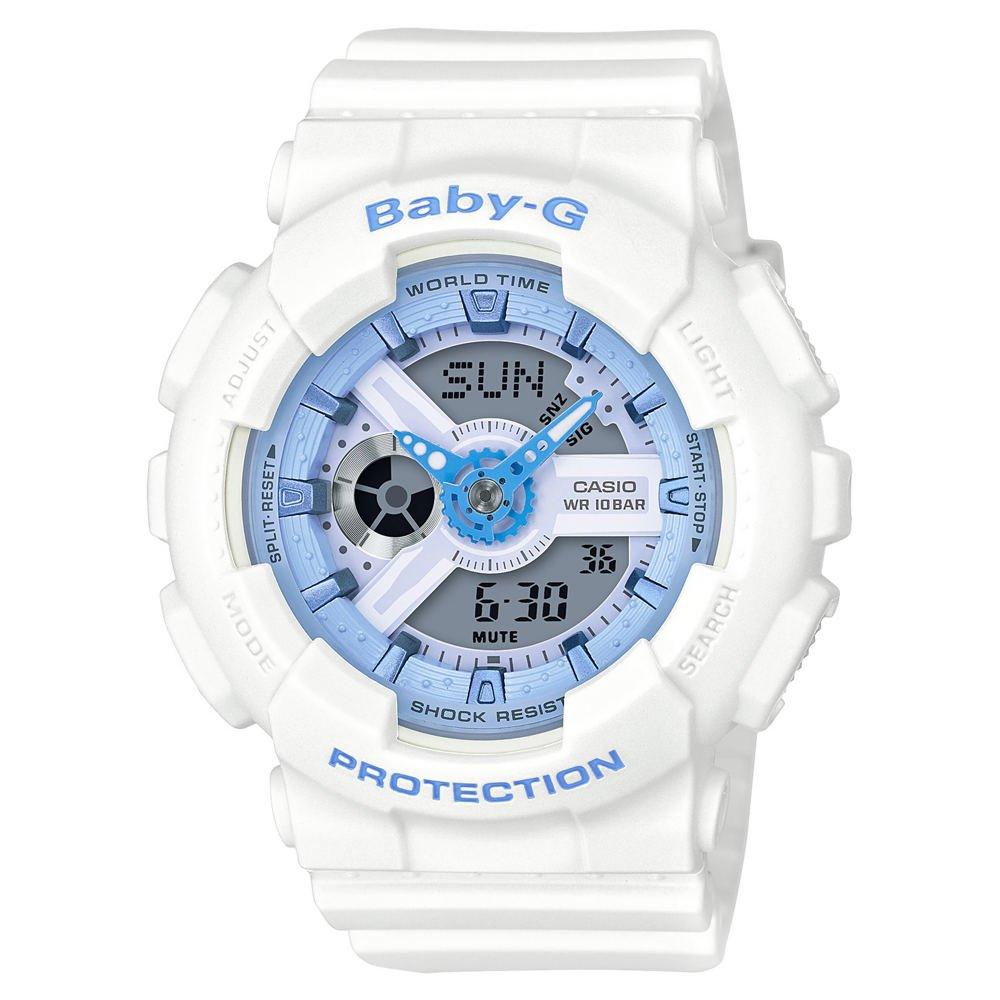 b900e4802 Amazon.com: Casio Baby-G BA-110BE-7A Analog-Digital Beach Watch (White /  Light Blue): Watches