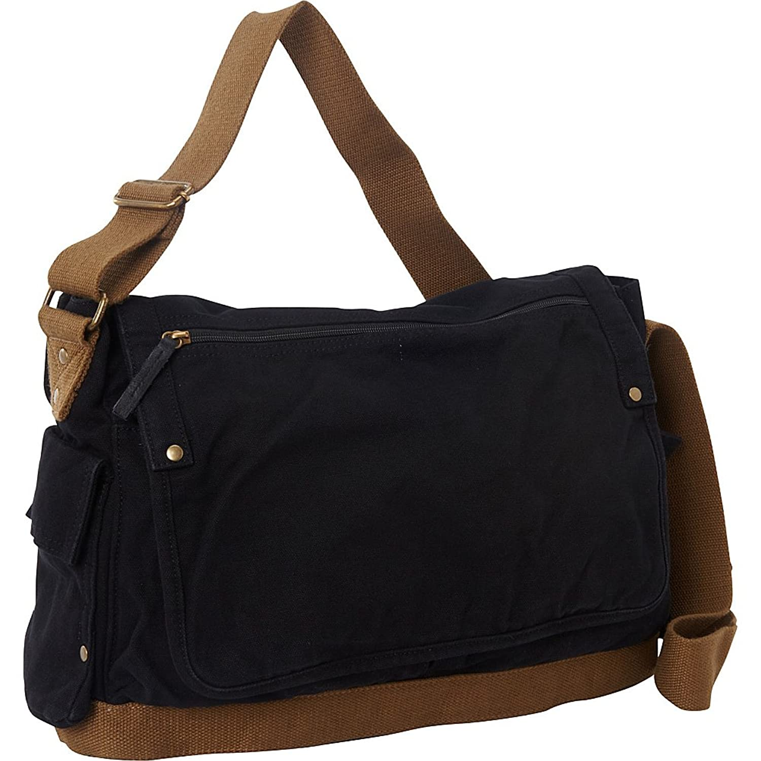 Amazon.com | Vagabond Traveler Casual Style Canvas Messenger Bag ...