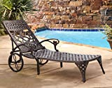 Home Styles Biscayne Chaise Lounge Chair, Bronze