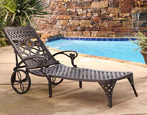 Mobile Lounge Chaise Adjustable - Home Styles Biscayne Chaise Lounge Chair, Bronze