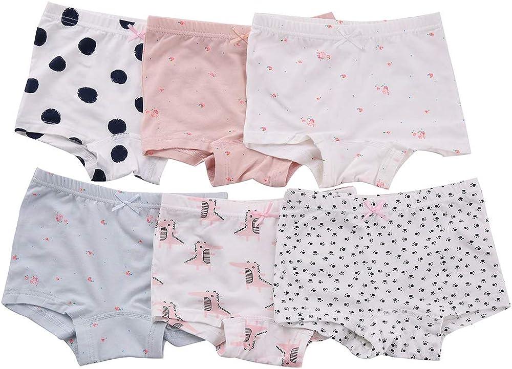 benetia Girls Underwear Soft Cotton 6-Pack
