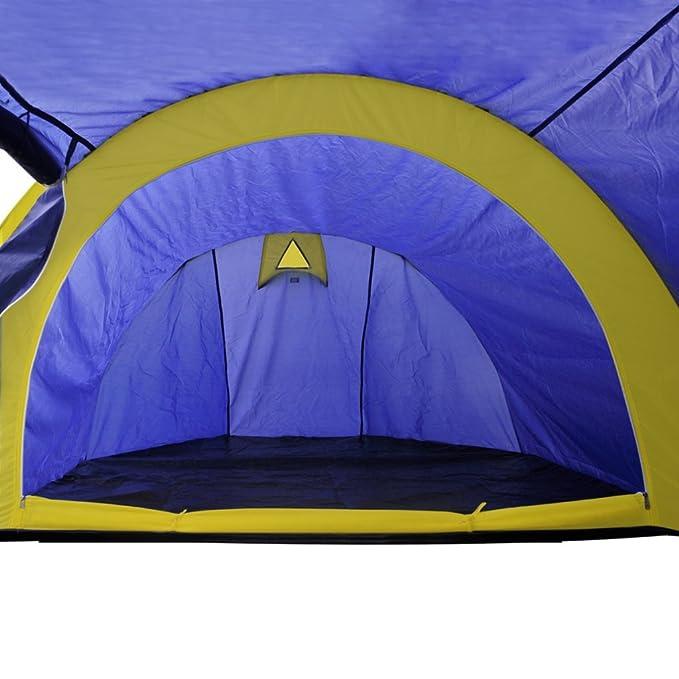 Igluzelt Kuppelzelt 4 Personen Familienzelt Campingzelt Festival Blau//Grün//Gelb