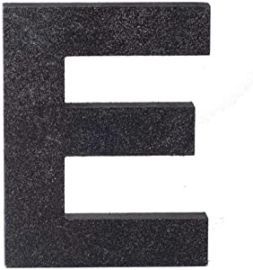 ZOOYOO Black Wood Letter E for Decoration Wall Letters Marquee Alphabet DIY Black Words Sign Hanging for Home Bedroom Office Wedding Party Decor