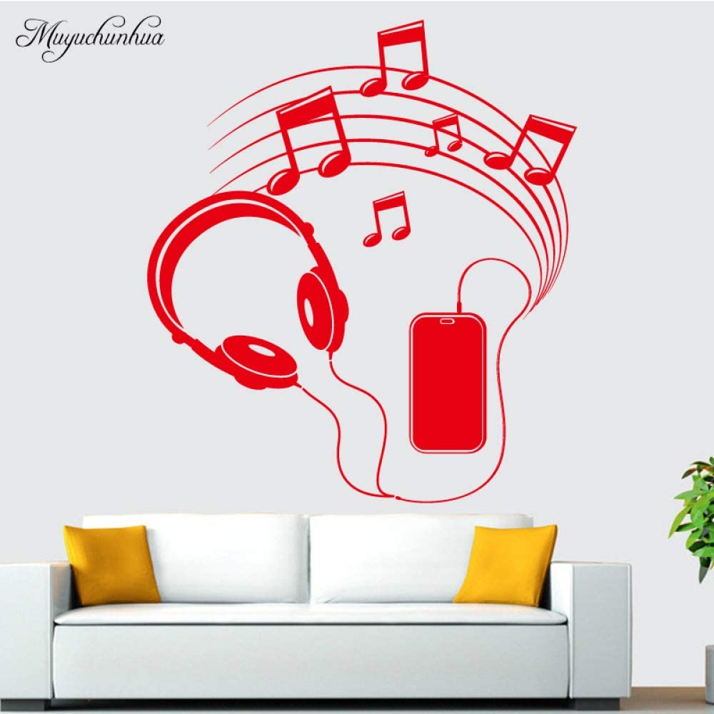Notas musicales de moda decoración del hogar pegatinas de pared ...