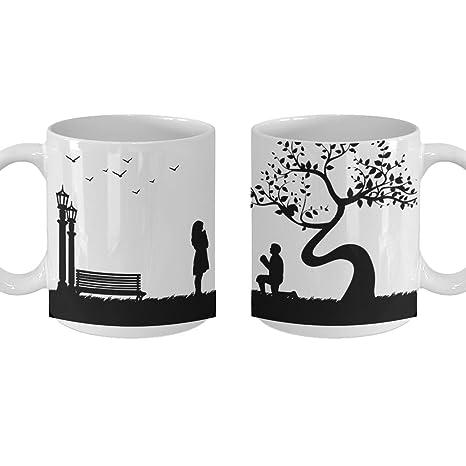 Amazon.com: Couple Gift Mug, Couples Matching Gift Set, Cute ...