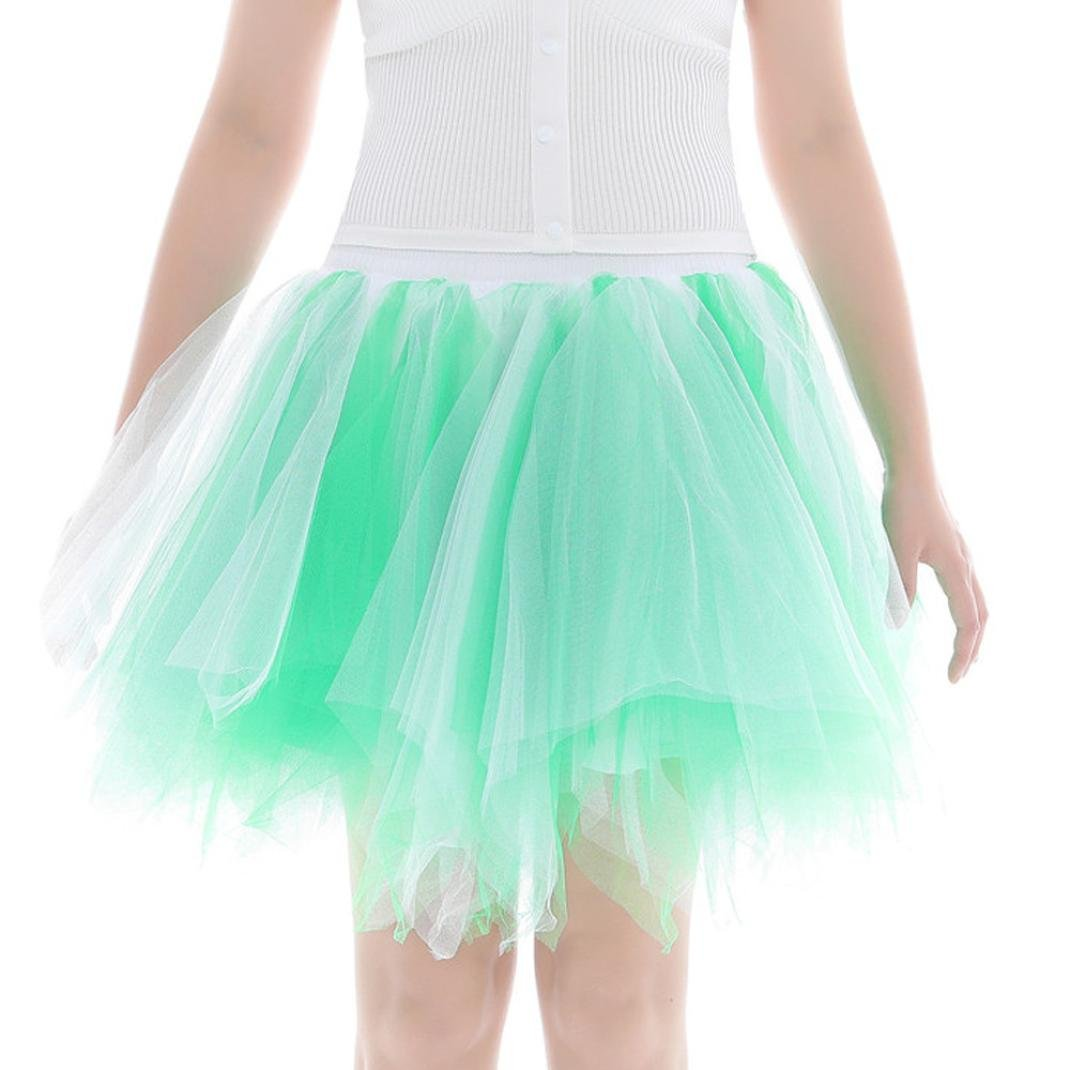 d9f3edba4 Womens Tutu Skirt Inkach Adults Dancing Pleated Short Tulle Skirt Fluffy  Petticoat