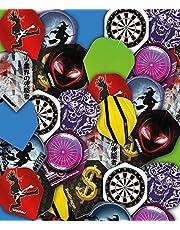 RED DRAGON Bargain - Juego de Plumas para Dardos (Disponible en 25 Juegos y 50 Juegos)