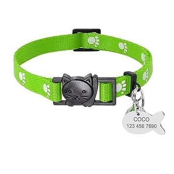 Didog - Collares para Gatos con Etiquetas de identificación Personalizadas, Cierre rápido, Hebilla para Mascotas con cascabeles: Amazon.es: Productos para ...