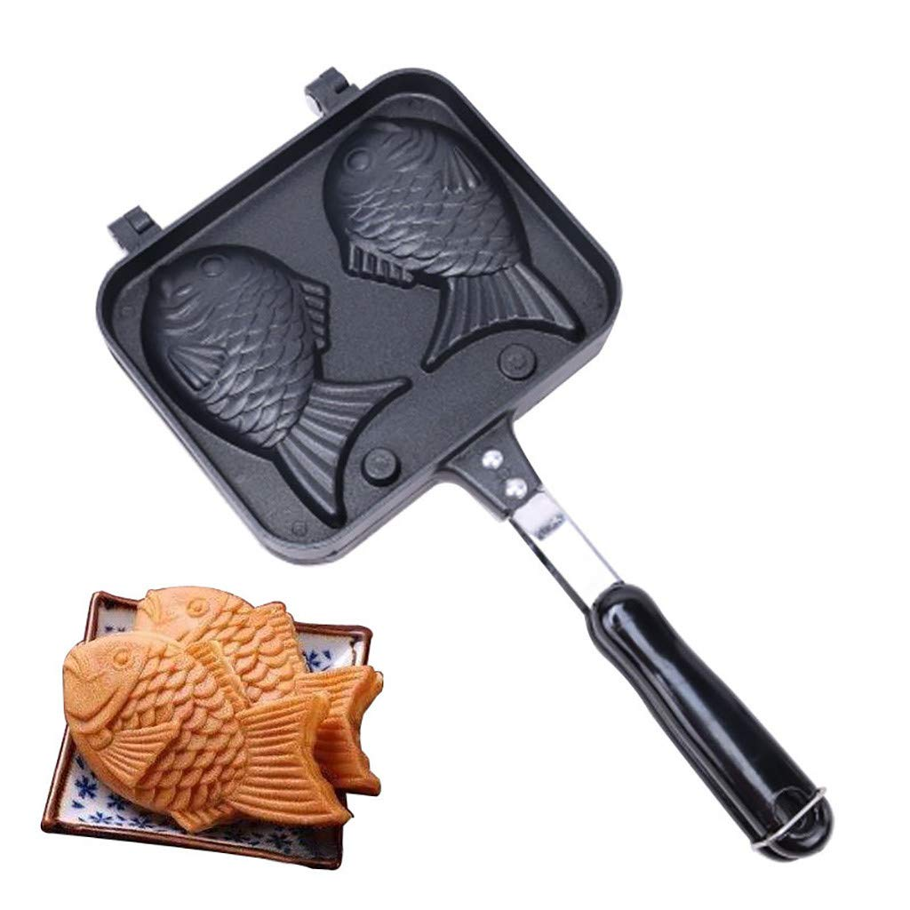 Pancake Waffle Maker Double Tray,Household Baking Mold,Commercial Non-Stick,Easy Release Gallity Fish-shaped Cake Pan