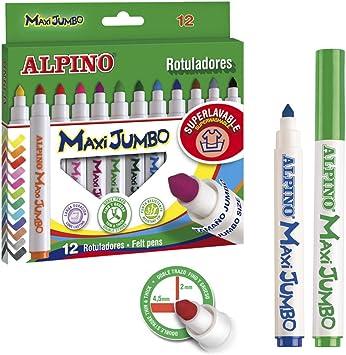 Alpino - Estuche de 12 rotuladores Maxi Jumbo (Massats AR000095): Amazon.es: Equipaje