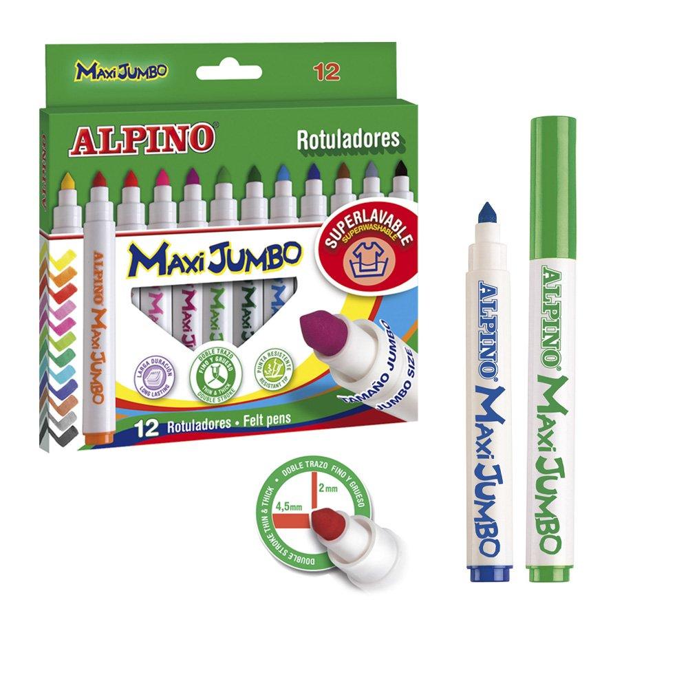 Alpino - Estuche de 12 rotuladores Maxi Jumbo (Massats ...