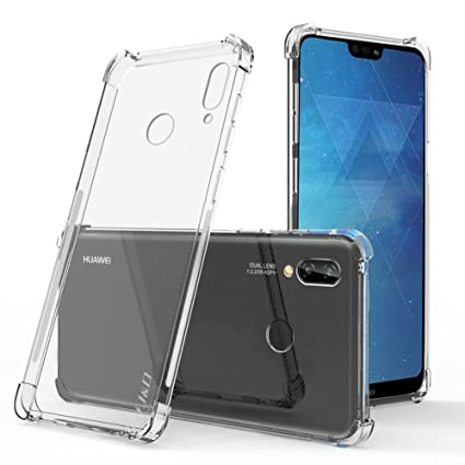 J&D Case Compatible for Huawei P20 Lite Case, [Corner Cushion] [Ultra-Clear] Shock Resistant Protective Slim TPU Bumper Case for Huawei P20 Lite ...