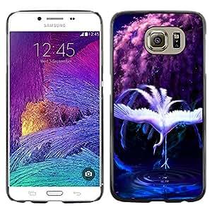 EJOY---Cubierta de la caja de protección la piel dura para el / Samsung Galaxy S6 / --Rainbow Cisne