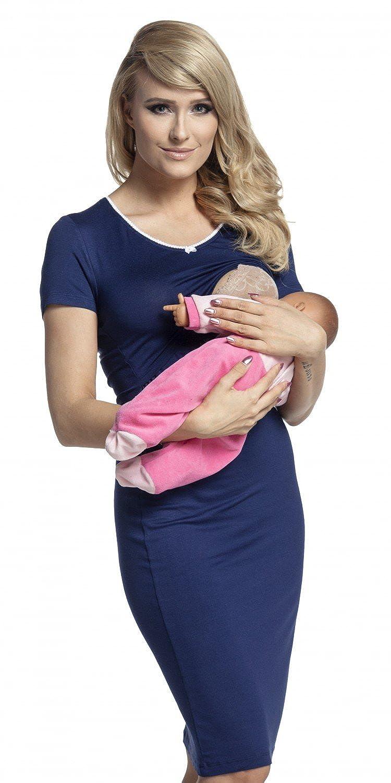 Happy Mama. Womens Maternity Nursing Breastfeeding Nightdress Shirt Gown. 274p pregnight_274