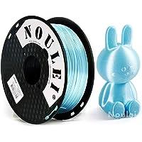 Noulei Glänsande Silke PLA 3D-skrivarfilament, 1,75 mm silkig filament 1kg (Ljusblå)