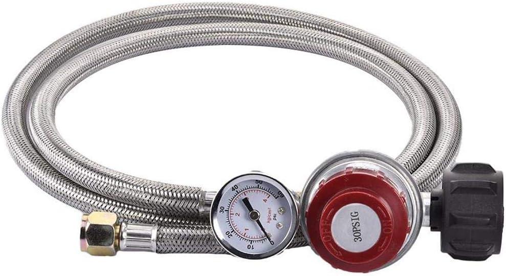 R/égulateur de pression TGO 30 mbar tuyau de gaz propane avec 2 /écrous de raccordement 1//4 gauche de 40 /à 5 m 30mbar 40 cm Gasschlauch
