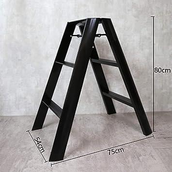 hmjv Escalera-estante-soporte Escalera plegable de aleación de aluminio Taburete Escalera ascendente Plataforma de trabajo móvil multipropósito Escalera antideslizante retráctil Capacidad 150 kg,Negr: Amazon.es: Bricolaje y herramientas