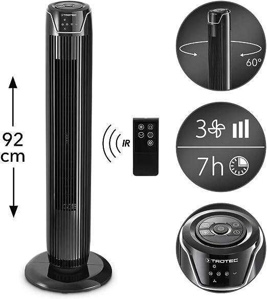 TROTEC Ventilador de Torre TVE 36 T, 45 W, Pantalla LED, Mando a ...