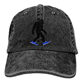 LETI LISW BigfootWashedDenim Cap Adult Unisex Adjustable Cap