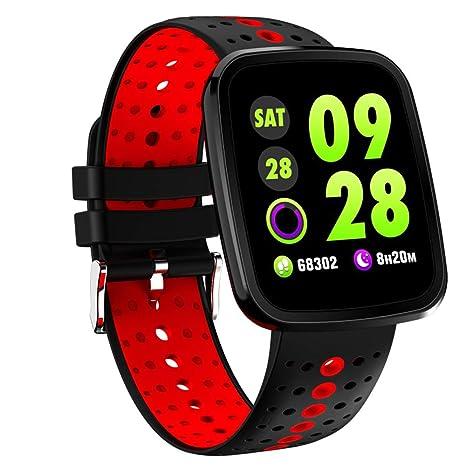 V6 Pulsera de Actividad Inteligente seguimiento Reloj de Digitales Hombre Mujer