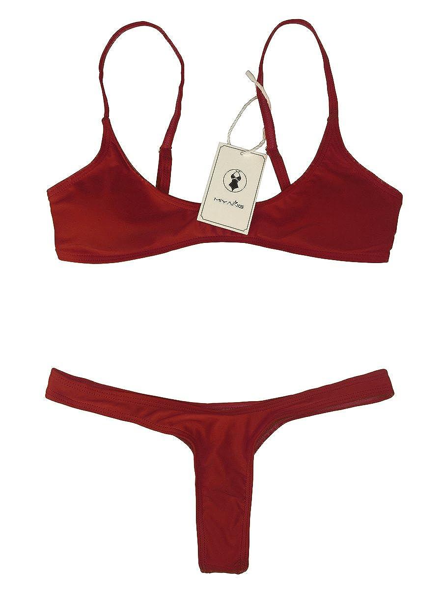 c14160c26fea9 Women Bikini Sets Brazilian Padded Top Thong Cheeky Bikini Bottom 2PCs 2018  Swimsuit for Women MiYang