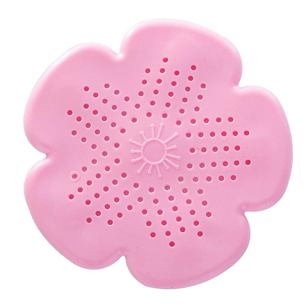 ZGJ Affe Flower Shape Silicone Kitchen Bathroom Shower Sink Strainer Drain Stopper Filter Net Hair Catcher,Blue