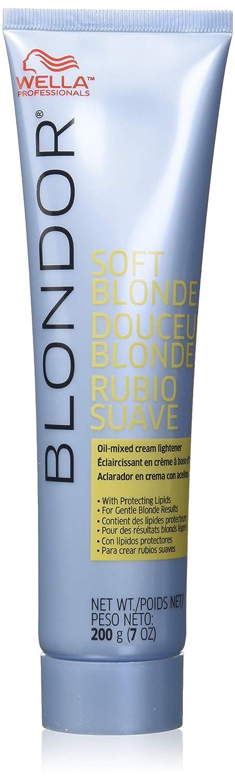Wella Blondor Soft Blonde Cream Lighter Hair Dye, 7 Ounce