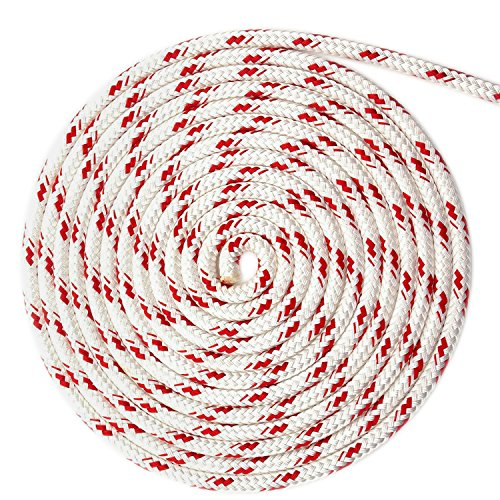 WindRider Ropes 3/8'' (10mm) Double Braid Line - Red Fleck (130FT) by WindRider