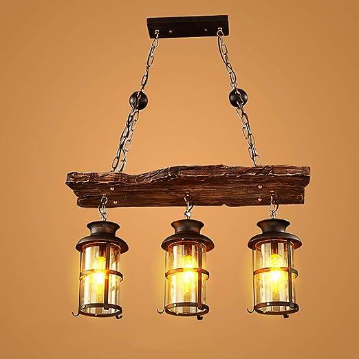 Lámpara colgante vintage Lámpara de techo retro Edison Loft ...