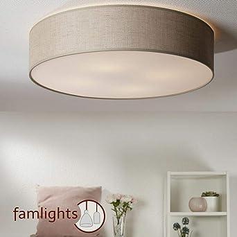 Decken Lampe Textil 40cm Stoff Leuchte Wohn-Ess-Schlaf-Zimmer Küchen Beleuchtung