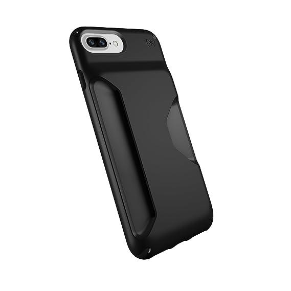 quality design c2c26 d512a Speck Products Presidio Wallet Case for iPhone 8 Plus (Also fits 7 Plus and  6S/6 Plus), Black/Black