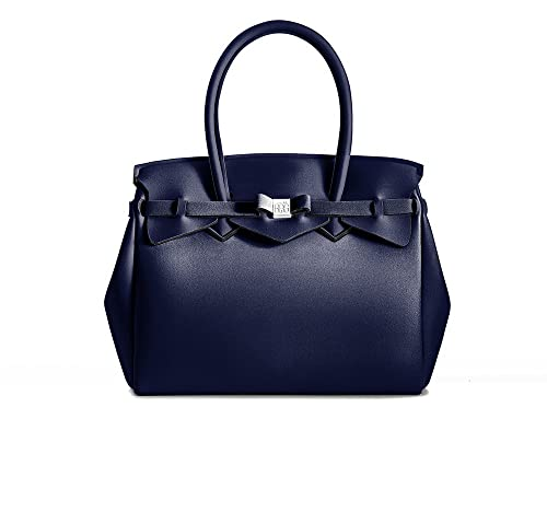 Save My Bag Eleganti Donna Borsa A Mano Blu Scuro :