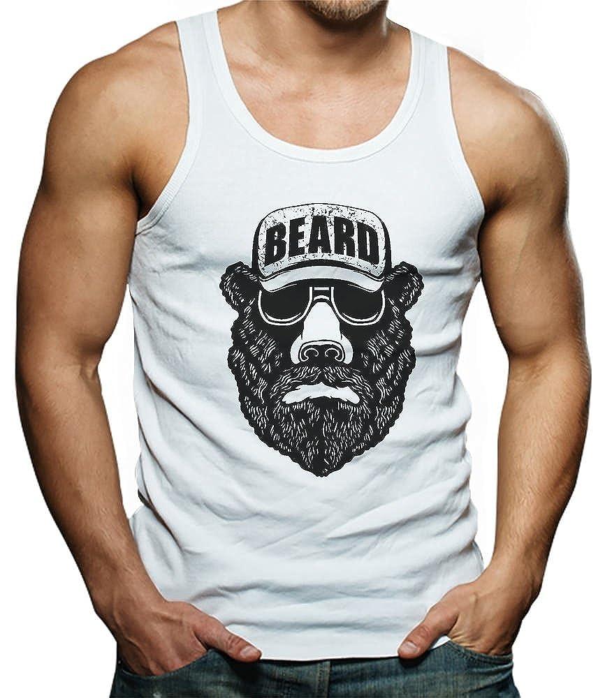 Beard Funny Beard Singlet Bear TeeStars